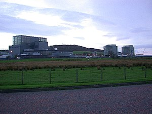 links Hunterston B, rechts Hunterston A