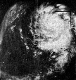 Uragano Cleo 23 agosto 1964 TIROS VIII.png