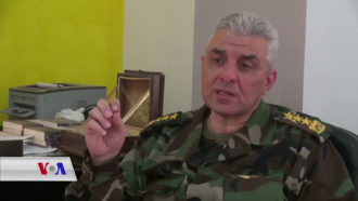Syrian Democratic Forces - Hussam Awak, a former brigadier general in the Syrian Armed Forces who resigned in 2005 and joined the SDF in October 2016.