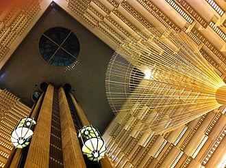 John C. Portman Jr. - Looking up into atrium of the Hyatt Regency Atlanta, first of Portman's atrium hotels