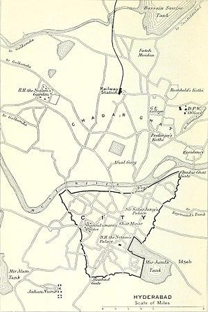 History of Hyderabad - Hyderabad map 1911