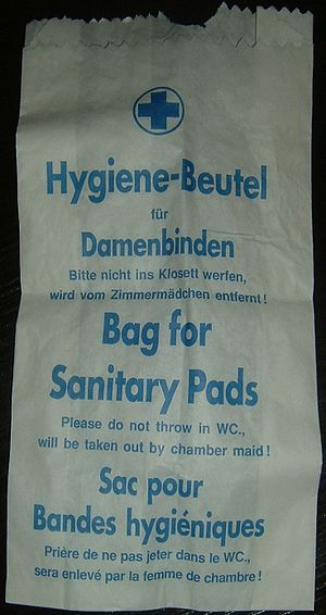 Sanitary napkin - Bag for napkins