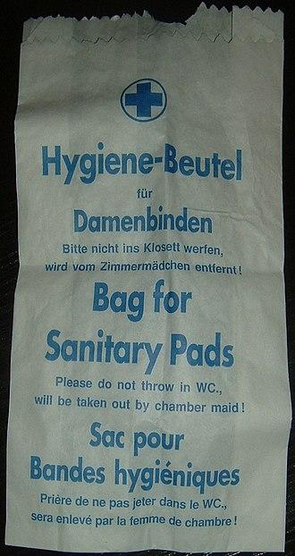 Sanitary napkin - Bag for napkins