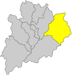 Location in Meizhou