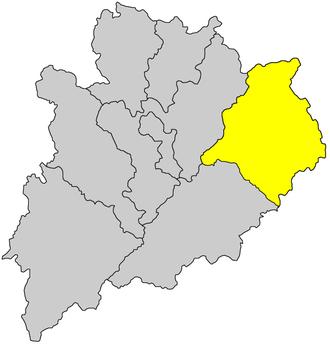 Dabu County - Image: Hzs map 022