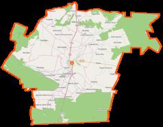 Mapa lokalizacyjna gminy Iłża