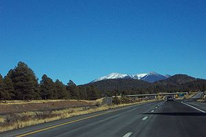 Interstate 40 - I-40 eastbound heading towards Flagstaff