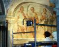 IMG 6173 - MI - Sant'Eustorgio - Coro - Restauratrice - Foto Giovanni Dall'Orto - 1-Mar-2007a.jpg