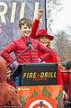 Iain Armitage and Jane Fonda at Fire Drill Fridays protest.jpg