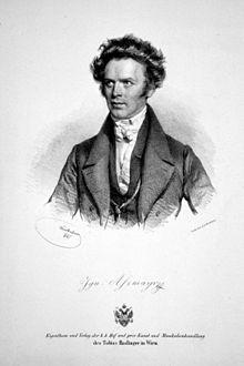 Ignaz Assmayr, Lithographie von Josef Kriehuber, 1841 (Quelle: Wikimedia)