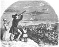 Illustrirte Zeitung (1843) 03 015 2 Vater! Laß mich den Kometen sehen!.PNG