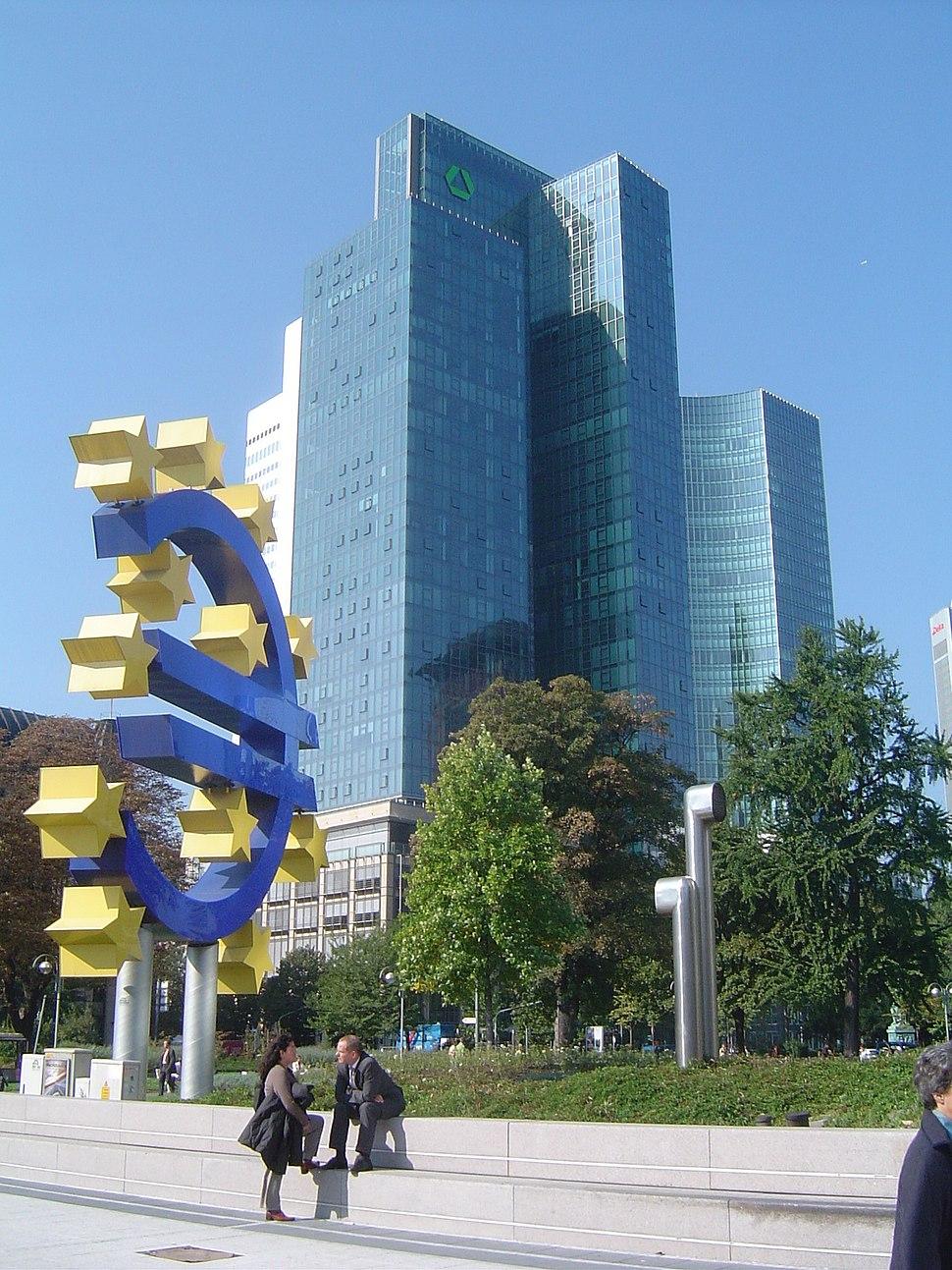 Image-Dresdner Bank and Euro, Frankfurt