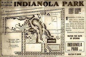 Indianola Park - Image: Indianola park ad