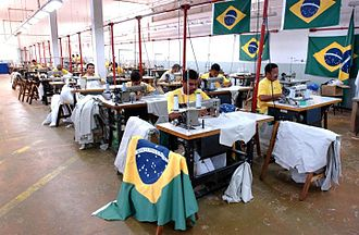 Penal labour - Inmates sewing in a Brazilian prison