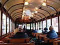 Inside the tram, Christchurch, New Zealand.JPG