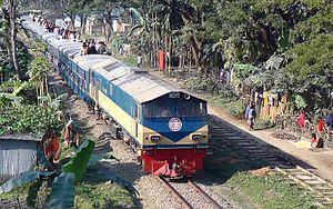 Narayanganj–Bahadurabad Ghat line - Intercity Tista Express that runs between Dhaka and Bahdurabad Ghat