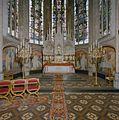 Interieur, overzicht koor met hoofdaltaar, muurschilderingen en gebrandschilderde ramen - Zieuwent - 20347198 - RCE.jpg