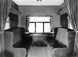 Interior passengers cabin of the airship Los Angeles