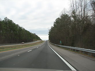 Interstate 26 - Eastbound along I-26 in South Carolina