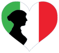 Interwiki women black Italian logo.png