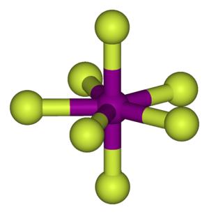 Iodine heptafluoride - Image: Iodine heptafluoride 3D balls