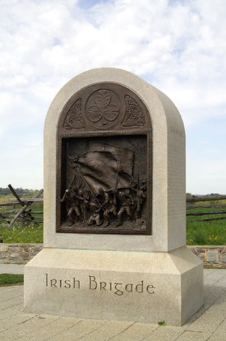 29th Regiment Massachusetts Volunteer Infantry - The Irish Brigade Monument on the Antietam Battlefield.  The 29th was assigned to the Irish Brigade during the Peninsular Campaign and served in that unit through the Battle of Antietam.