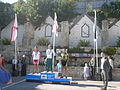 Island Games 2011 men's Town Centre Criterium cycling medal ceremony 2.JPG