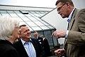 Islands statsminister Johanna Sigurdardottir, Danmarks statsminister Lars Loekke Rasmussen och Finlands statsminister Matti Vanhanen samtalar vid Nordiskt globaliseringsforum 2010.jpg