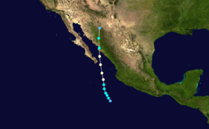 Hurricane Ismael - Image: Ismael 1995 track