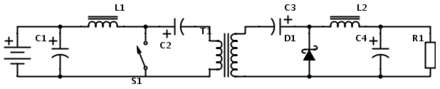 Isolated Cuk converter with gapless AC transformer in the middle Isolated-cuk-converter.png
