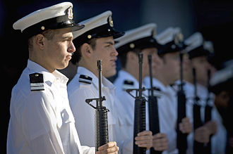 Navy Day - Israeli naval honor guards on Navy Day.