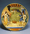 Italian - Dish with King Candaules Exhibiting His Wife Nyssia to Gyges - Walters 482031.jpg