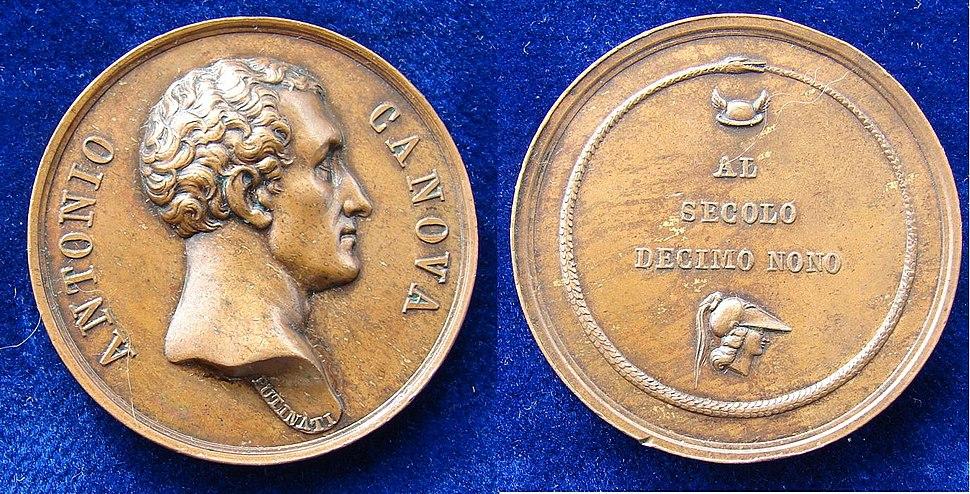 Italy, Antonio Canova Medal by Putinati