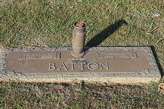 J. D. Batton - J. D. Batton grave at Gardens of Memory Cemetery in Minden, Louisiana