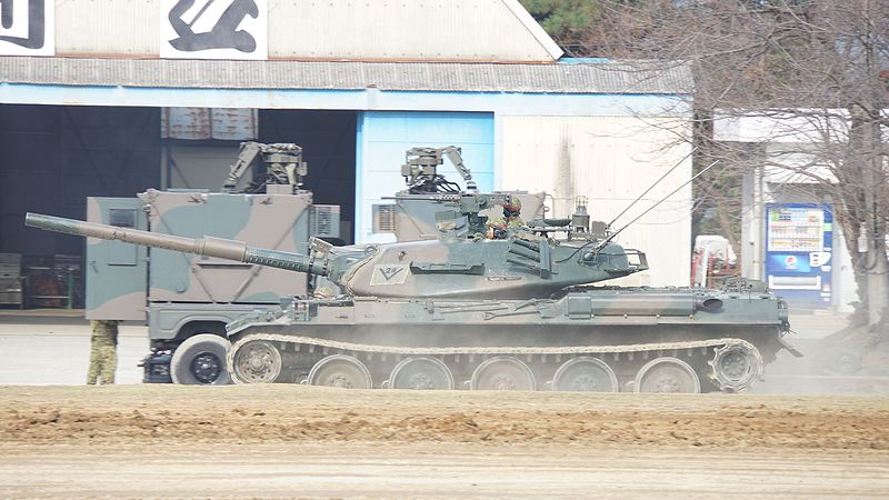 File:JGSDF Type 74 Tank equipped with Multiple Integrated Laser Engagement System(MILES) at Camp Imazu November 22, 2015 01.jpg