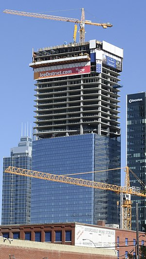 JW Marriott Edmonton Ice District & Residences - Tower under construction in September 2017.
