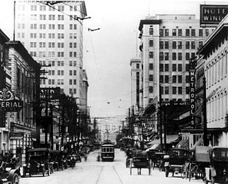 Jacksonville, Florida - Downtown Jacksonville in 1914