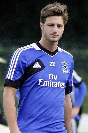 Jacopo Sala - Sala at practice with HSV in 2012