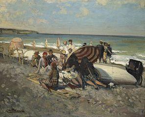 Plage de Dieppe en août