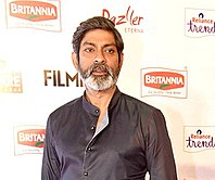 Jagapathi Babu at the 62nd Filmfare Awards South ceremony in 2015.