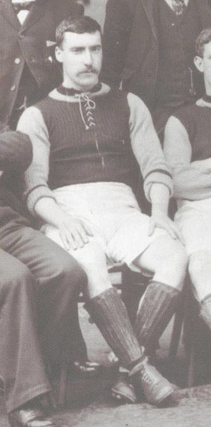 James Cowan (footballer) - Cowan with Aston Villa in 1897.