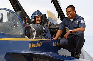 James Franco - Franco, preparing to ride in the Blue Angels No. 7, with Patrick Palma in a two-seat FA-18B, in August 2006