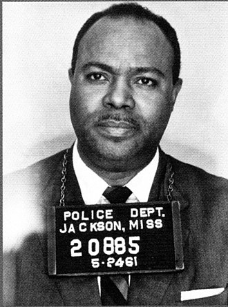 James Farmer - Booking photo from 1961