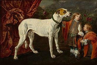 Jan Fyt - Big dog, dwarf and boy