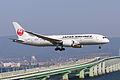 Japan Air Lines, JL816, Boeing 787-8 Dreamliner, JA821J, Arrived from Taipei, Kansai Airport (17186364062).jpg