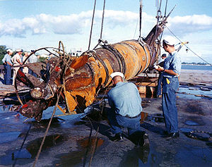 Type A Kō-hyōteki-class submarine - Japanese Type A Midget Submarine recovered in 1960 off Pearl Harbor, HI.