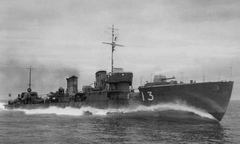 Japanese destroyer Hayate Taisho 14