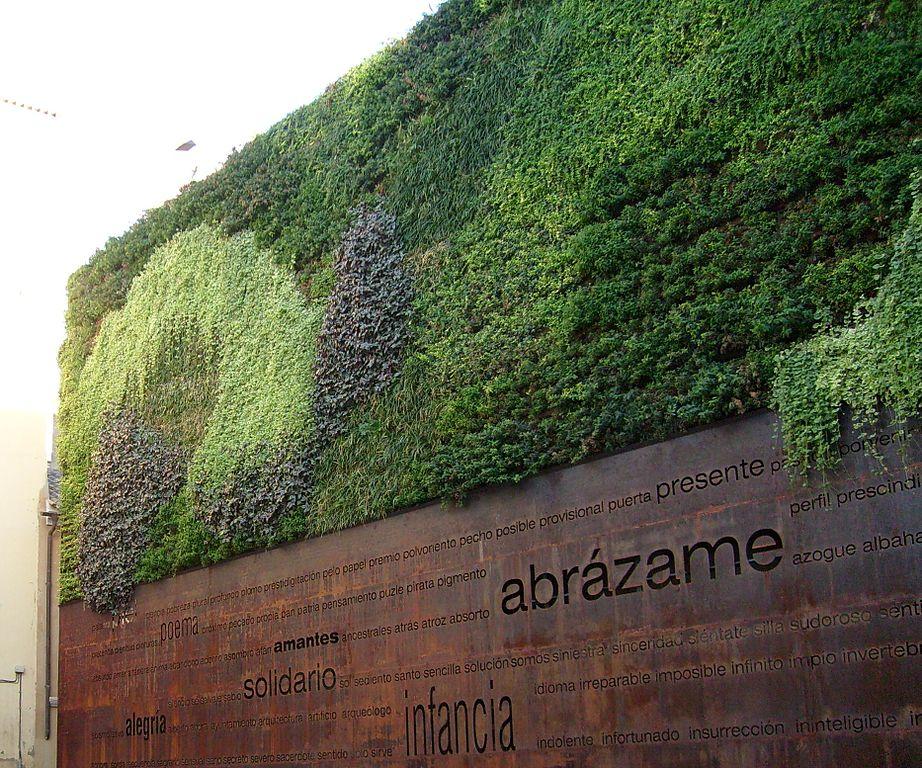 File jardin vertical de plaza del peric n m laga jpg for Jardin vertical artificial
