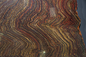 Pilbara - Jasperlite (Banded iron formation) specimen from the Old Ridley Ranges, Pilbara