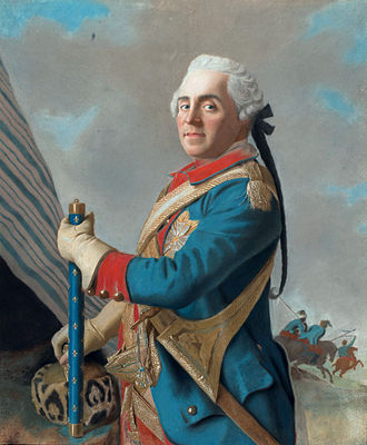 Maurice de Saxe - Maurice of Saxe as a Marshal of France by Jean-Étienne Liotard.